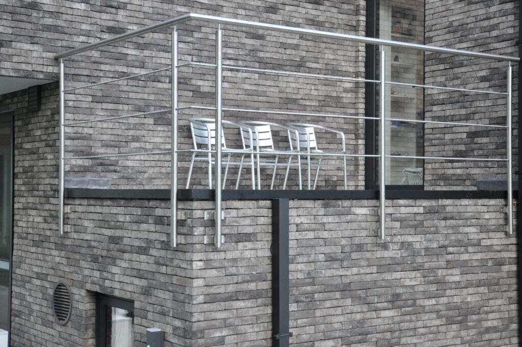 Borstwering - inox - rond - balkon